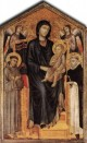 Cimabue Madonna Enthroned with the Child St Francis St Domenico and two Angels