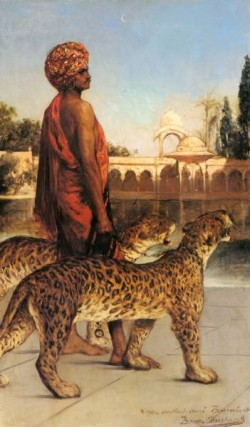 Constant Benjamin The Palace Guard With Two Leopards