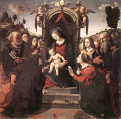 Piero di Cosimo Mystical Marriage of St Catherine of Alexandria 1493