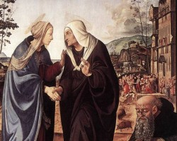 Piero di Cosimo The Visitation with Sts Nicholas and Anthony 1489 90 dt1