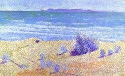 Beach on the mediterranian oil on cardboard 1891 92 xx private collection