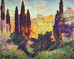 Cypress trees at cagnes 1908 xx musee dorsay paris france