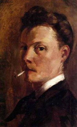 Self portrait with cigarette 1880 xx private collection