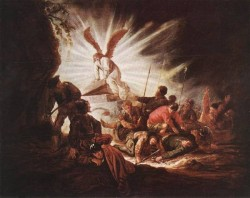The Angel Is Opening Christs Tomb