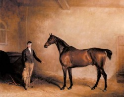 Ferneley Snr John E Mr C N Hoggs Claxton And A Groom In A Stable