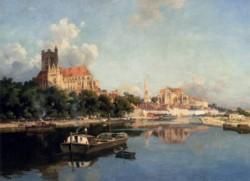 Vue De La Cathedrale D Auxerre