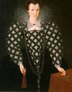 Portrait of mary rogers lady harrington 1592 london