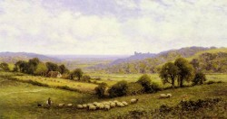 Augustus Near Amberley Sussex With Arundel Castle In The Distance