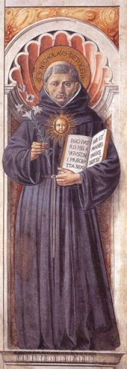 GOZZOLI Benozzo St Nicholas of Tolentino on the Pillar