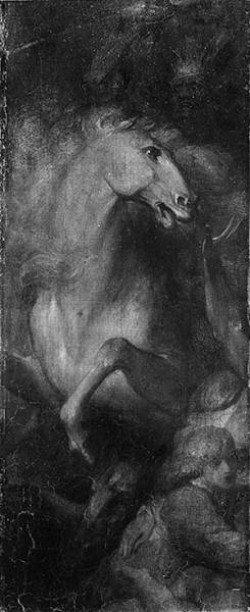 Benjamin West fragment from a Portrait