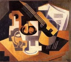 Guitar and Fruit Bowl on a Table 1918