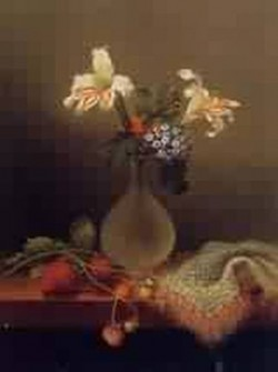 A Vase of Corn Lilies and Heliotrope 1863jpeg