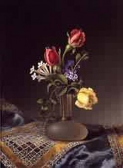 Flowers in a Frosted Vase 1874 1880jpeg