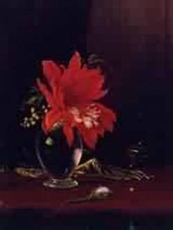 Red Flower in a Vase 1871 1880jpeg