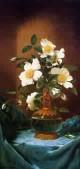 White Cherokee Roses in a Salamander Vase 1883 1895jpeg