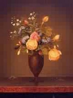 Wildflowers in a Brown Vase 1860 1865jpeg