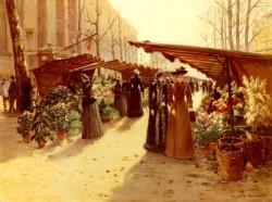 Marche Aux Fleurs A La Madeleine Avec Plantes Potageres