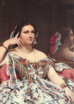 Ingres Madame Moitessier Seated detail