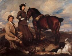 Lambert Miss Alison Preston and John Proctor on Mearbeck Moor