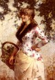 A Young Woman In A Vineyard