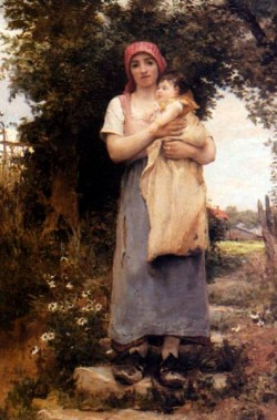 Georges A Mother Holding Her Child