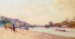 Paris the Seine and the Pont des Saint Peres with the Louvre 1897