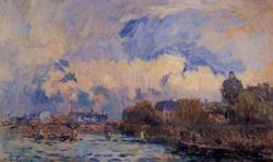 Paris the Seine at Pont des Arts and the Institute Date unknown