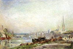 Rouen the Seine and the Cathedral Date unknown