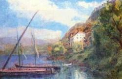 The Shores of Lake Geneva at Saint Gingolph 1900