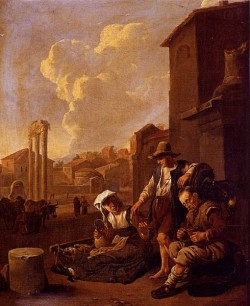 Peasant Family Having Bread And Wine