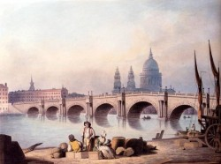 View Of Blackfriars Bridge With St Pauls Cathedral Beyond