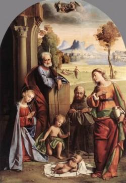 Nativity With Saints