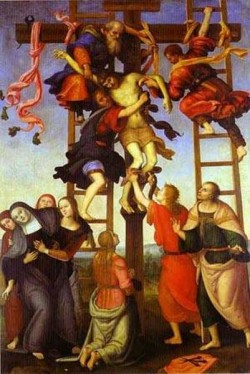 Filippino lippi and pietro perugino the deposition from the cross 1500s xx florence italy