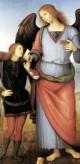 Perugino Archangel Raphael with Tobias