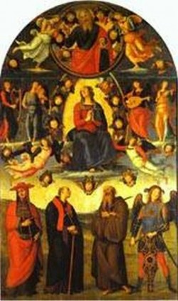 The assumption of the virgin with saints 1500 xx florence italy