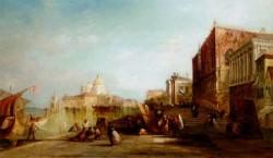 Santa Maria Della Salute From The Riva Degli Schiavoni Venice