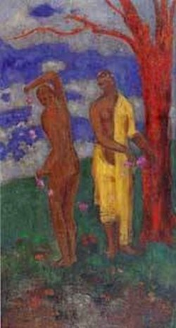 Two Women under a Red Tree 1905 1906