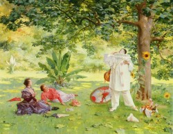 French 1855 1911 Pierrot Entertaining In The garden SND 1895 OC 736by91