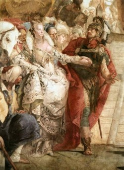 Tiepolo Palazzo Labia The Meeting of Anthony and Cleopatrajpg detail1