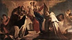 Tiepolo The Madonna of Mount Carmel detail1