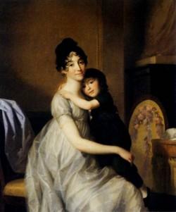 Friedrich Johann Anne Pauline Dufour Ferance And Her Son Jean Marc Albert