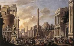Antique Forum With A Triumphal Procession