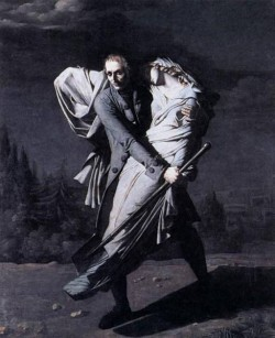 Young Holding His Dead Daughter In His Arms