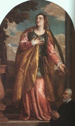 Veronese St Lucy and a Donor