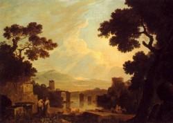 A Capriccio Landscape With The Temple Of The Sibyl At Tivoli And The Broken Bridge At Narni