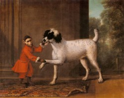 A Favorite Poodle And Monkey Belonging To Thomas Osborne