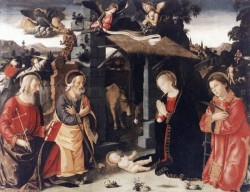 Nativity With St Lawrence And Andrew
