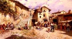 Vista Rural De Los Al Rededores De Un Pueblo De Roma