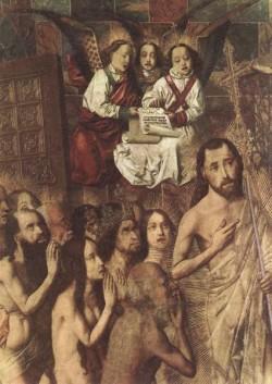 BERMEJO Bartolome Christ Leading The Patriarchs To The Paradise detail