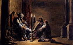 The Scribe Shaphan Reading The Book Of Law To King Josiah